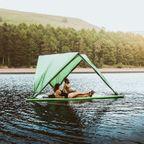 【画像】水陸両用!水に浮かぶテントが魅力的!!