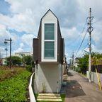 【画像】薄すぎる!三角形の住宅の内部が意外と広々している!!