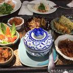自然豊富なヴィンコットのテラス席で宮廷料理カオチェーを食す in カオヤイ