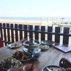マトチャーヌは全長1kmの真っ赤な橋の前にある海鮮料理店 in サムットサーコーン県