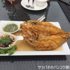 川沿いにあるMoon river silk dining restaurantで海鮮料理 in ノンタブリー県