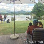 ピロム・カフェは景色がきれいな湖の前にあるカフェ in カオヤイ