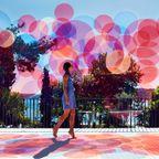 景色を彩る!華やかな泡のようなスクリーン!!