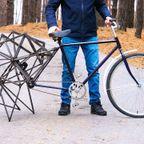 四本の足が付いた!歩く自転車が楽しそう!!