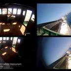 沈没する船に取り付けられた!監視カメラの映像!!