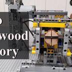 レゴで実働する丸太の運搬&加工施設を製作!!
