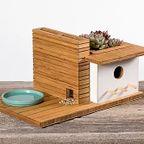 野鳥の豪邸のような鳥の巣箱が魅力的!!