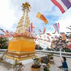 山の上にあるワット・カオ・サナームチャイの仏塔 in ホアヒン