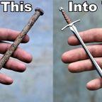 釘から、切れ味抜群の小さな剣を作る!!