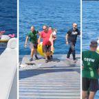 漂流中の4歳の女の子が海で発見される!!