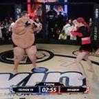 体重差4倍!63kgの女性と240kgの男の総合格闘技の戦い!!