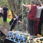 人が乗れる橋の模型を作って橋の強度を競う大会!!