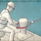 船を係留するロープの恐ろしさがよく分かる動画!!