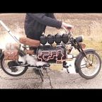 ロシア人が蒸気機関で走るバイクを製作!!