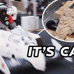 ケーキで作ったF1のレースカーが意外と早い!!