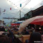 タイロム歩行者天国は土曜日限定のローカル向け市場 in ペッチャブーン県