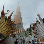 ワット・パー・プータップブークにある黄金の巨大仏塔は一見の価値あり! in ペッチャブーン県