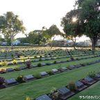連合軍共同墓地は連合国軍軍人が眠る歴史的な墓地 in カンチャナブリ