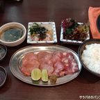 焼肉バカ一代のランチメニュー 牛タン盛り定食 in トンロー
