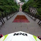 自転車で999段の階段を下るダウンヒル!!