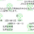 万馬券アルバム(2013年8月~)