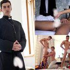 巨根イケメン神父がオナニー見せたり生チンポでホモアナルSEXしまくる(汗)