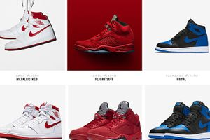 リストック NIKE AIR JORDAN 1 ROYAL 575441-007 AJ1 METALLIC RED 555088-103 AJ5 FLIGHT SUIT 136027-602
