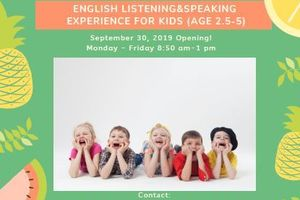 New Service! English Listening&Speaking Experience For Toddlers