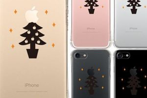 【iPhone7ケース】 クリスマスツリー エアークッション ソフト クリア ケース