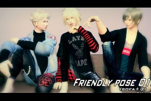 Friendly pose 012 & Couple pose 015 【配布】
