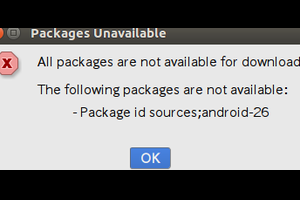 Android ソースコード展開時に「All packages are not available for download!」