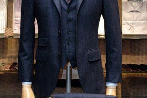 3 Button Single Breasted Vested Suit