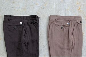 ENDS and MEANS/エンズアンドミーンズ Grandpa Trousers