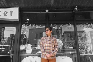 Work Shirt, Orange Madras -Coordinate-